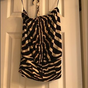 Animal print strapless top